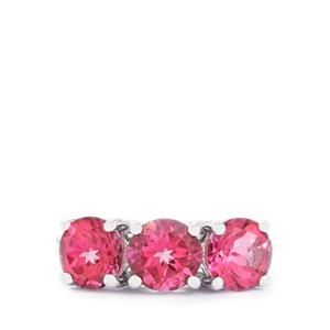 4.67ct Mystic Pink Topaz Sterling Silver Ring