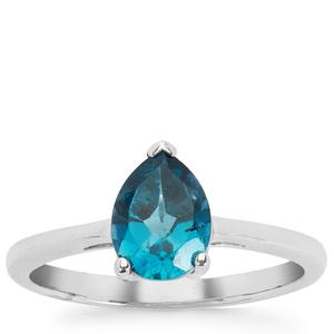 1.30ct Ceylonese London Blue Topaz Sterling Silver Ring