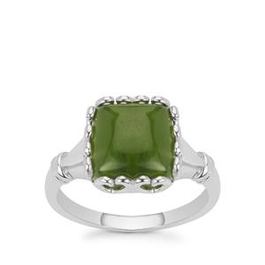 Canadian Nephrite Jade Ring in Sterling Silver 4.65cts