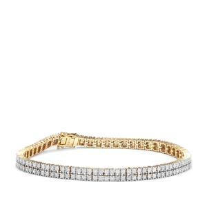 Diamond Bracelet in 9K Gold 4ct
