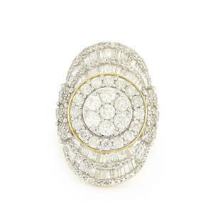 3ct Diamond 9K Gold Tomas Rae Ring