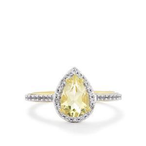 Serenite & White Topaz 9K Gold Ring ATGW 1.54cts
