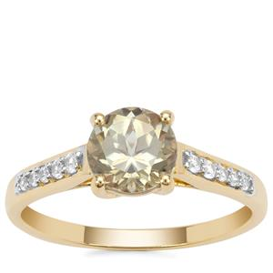Csarite® Ring with White Zircon in 9K Gold 1.64cts