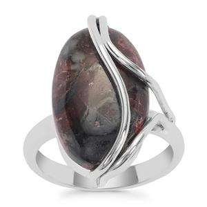 Eudialyte Ring in Sterling Silver 11cts