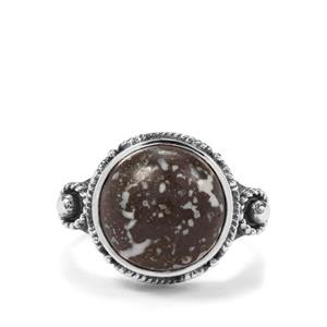 6.22ct Dinosaur Bone Sterling Silver Aryonna Ring