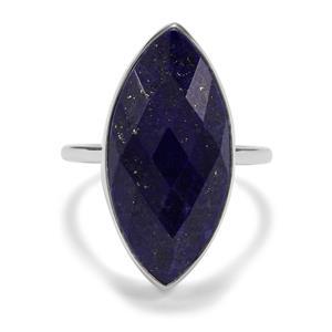 12.23ct Sar-i-Sang Lapis Lazuli Sterling Silver Aryonna Ring