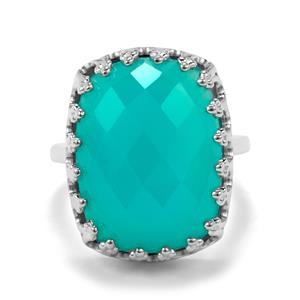 Aqua Chalcedony Ring in Sterling Silver 14.22cts