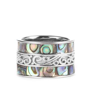 Paua Sterling Silver Ring