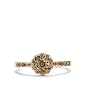 1/2ct Champagne Diamond 9K Gold Ring