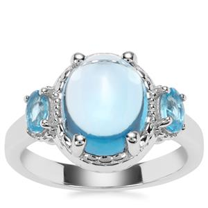 Swiss Blue Topaz Ring in Sterling Silver 5.42cts
