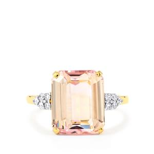 Mawi Kunzite & Diamond 14K Gold Tomas Rae Ring ATGW 6.95cts