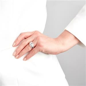 Diamond Ring in 18k White Gold 1cts