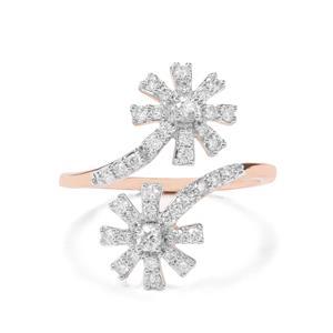 1/2ct Argyle Diamond 9K Rose Gold Ring