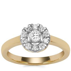 Canadian Diamond Ring in 18K Gold 0.52ct