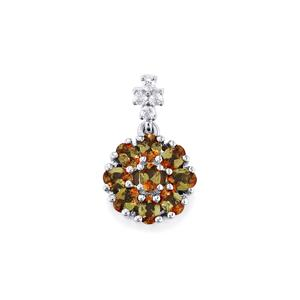 Gouveia Andalusite & White Zircon Sterling Silver Pendant ATGW 1.72cts