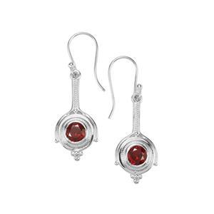Octavian Garnet Romulus Earrings in Sterling Silver 2.10cts
