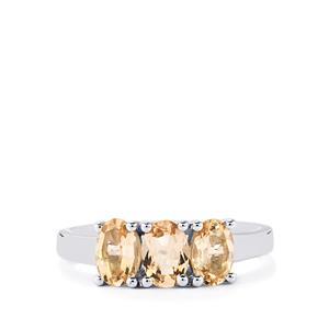 1.39ct Zambezia Morganite Sterling Silver Ring
