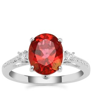 Cruzeiro Topaz Ring with White Zircon in Sterling Silver 3.15cts