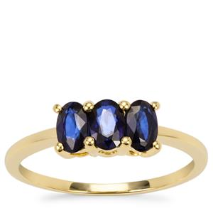 Sri Lankan Sapphire Ring in 9K Gold 1.08cts