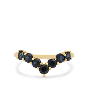 Australian Blue Sapphire Ring  in 9K Gold 1.15cts