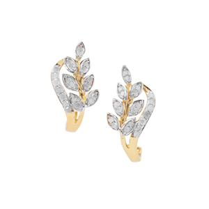 Diamond Earrings in Gold Plated Sterling Silver 0.39ct