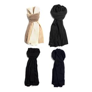 Ladies Knitted Cashmere Travel Wrap with Genuine Gemstones