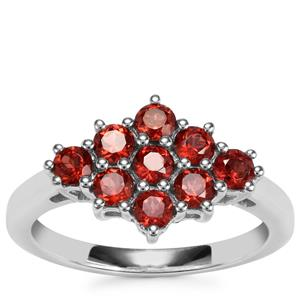 Nampula Garnet Ring in Sterling Silver 1.25cts