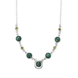 Amazonite & Changbai Peridot Sterling Silver Aryonna Necklace ATGW 21cts