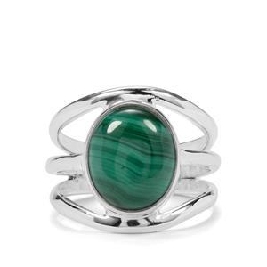 7ct Malachite Sterling Silver Aryonna Cuff Ring