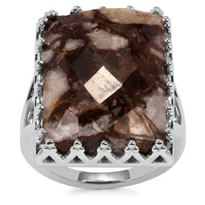 Wild Horse Jasper Ring in Sterling Silver 16.75cts
