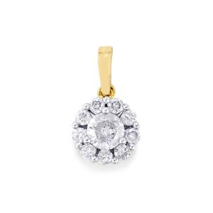 1/2ct Diamond 10K Gold Pendant