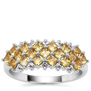 Golden Tourmaline Ring in Sterling Silver 0.85ct