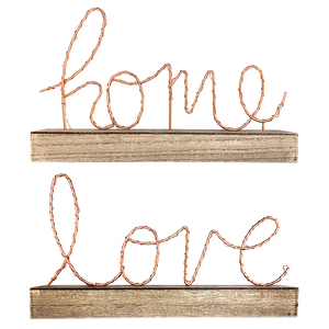 LED Battery Powered Decorative Stand in Love or Home