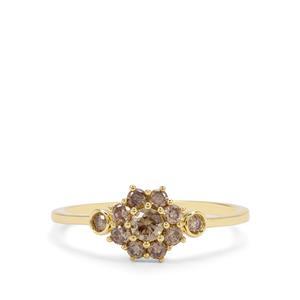 1/2ct Cape Champagne Diamond 9K Gold Ring