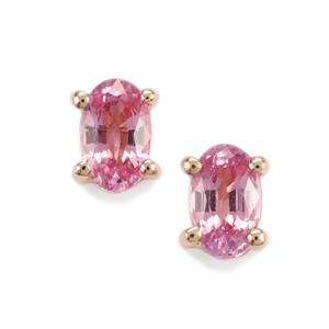 Sakaraha Pink Sapphire Earrings in 9K Rose Gold 0.71ct