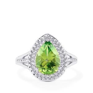 Fern Green Quartz Ring in Sterling Silver 2.57cts
