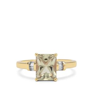Csarite® Ring with Diamond in 18K Gold 2.30cts