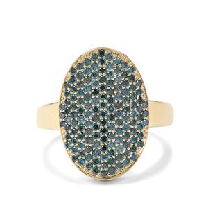 1ct Blue Diamond 9K Gold Tomas Rae Ring