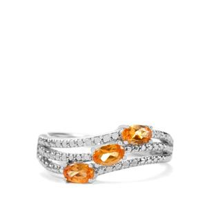 0.87ct Serengeti Spessartite Garnet Sterling Silver Ring