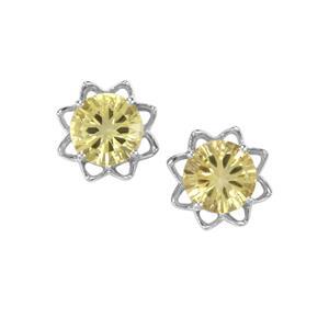 4.96ct Lemon Quartz Sterling Silver Amami Cut Earrings