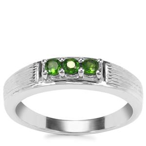 Chrome Diopside Ring in Sterling Silver 0.38cts