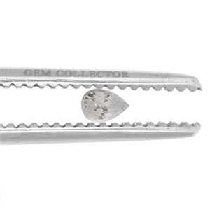 0.40ct Ceylon White Sapphire (H)