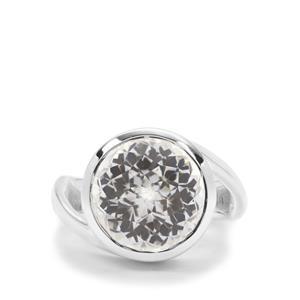 Eden Cut Crystal Quartz Ring in Britannia Silver 8.39cts