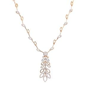 Diamond Necklace in Gold Plated Sterling Silver 0.84ct