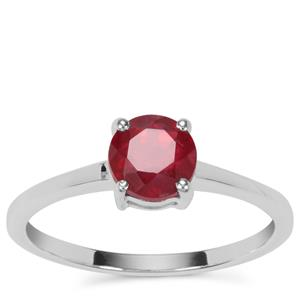 'The Jewel of Zahamena' Ruby Ring in Sterling Silver 1.20cts (F)