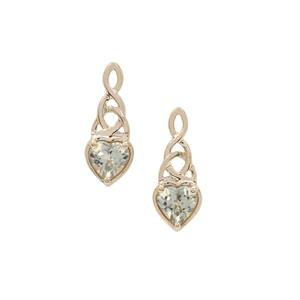 Csarite® Earrings in 9K Gold 1cts