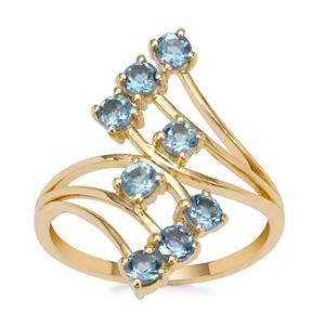 Nigerian Aquamarine Ring in 9k Gold 0.75ct