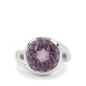 Eden Cut Rose De France Amethyst Ring in Britannia Silver 8.05cts