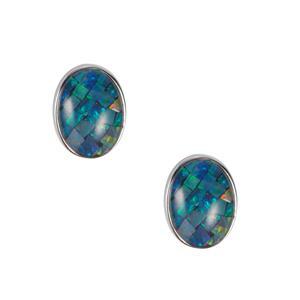 Mosaic Opal Earrings in Sterling Silver