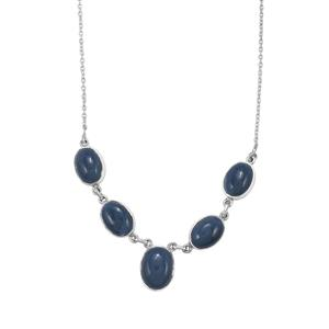 26.85ct Bengal Blue Opal Sterling Silver Aryonna Necklace